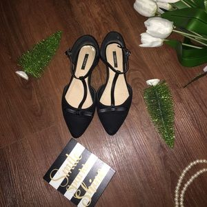 Forever 21 T strap Suede Flats